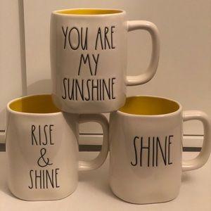 Rae Dunn SHINE mug bundle -NEW